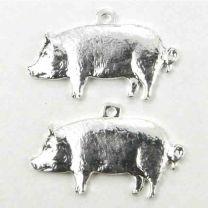 Silver Plate 19x10 Pig Diestruck