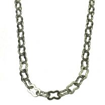Silver Plate 4x2MM Fancy Cable Chain