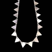 Silver Plate 75MM Triangle Drop Chain