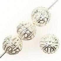 Silver Plate 8MM Filigree Ball