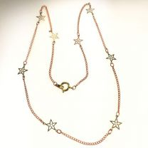 Silver Plate Necklace with 8MM Star