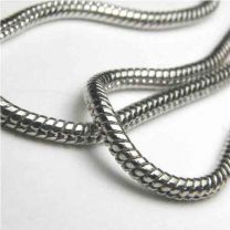 Silver Plate Snake Chain 2MM