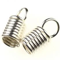 Silver Plate Wound Wire Cord End for 3MM Cord