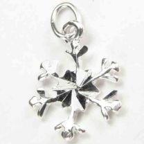 Sterling Silver 11MM Snowflake