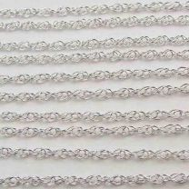 Sterling Silver 18 Inch 1MM Rose Style Neck Chain