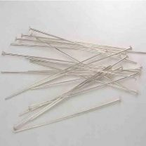 Sterling Silver 2 Inch 24 Gauge Thin Headpin