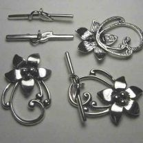 Sterling Silver 30x20MM Flower Toggle