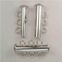 Sterling Silver 3 Strand Tube Clasp