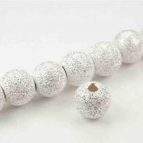 Sterling Silver 4MM Sparkly Stardust Ball