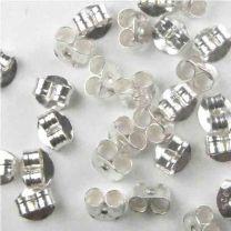 Sterling Silver 6MM Scroll Nut Earring Back