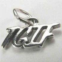 Sterling Silver TGIF 11mm Text