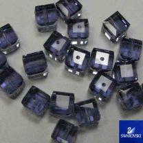 Tanzanite_6MM_Cut_Cube_Swarovs