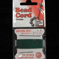 Teal Sz 6 Braided Silk Cord With Needle