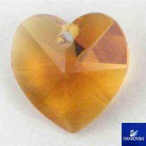 Topaz 10MM Swarovski Heart Pendant
