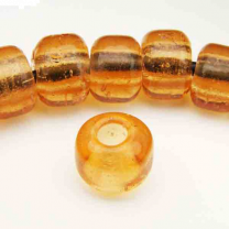 Topaz 9x7MM Crow Bead With 3MM Large Hole