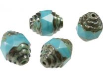 Turquoise_Cathedral_Bead_10x8mm_With_Picaso_Ends