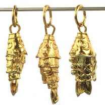 Vintage Gold Plate 21x9MM Wiggley Fish
