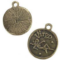 Virgo 21MM Antique Brass Plate Coin Pendant