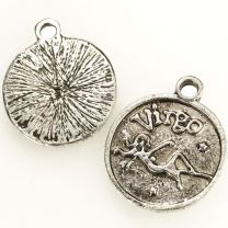Virgo 21MM Antique Silver Plate Coin Pendant