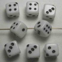 White_10MM_Dice_Bead_With_Blac