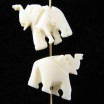 White_Bone_Carved_Elephant_15M