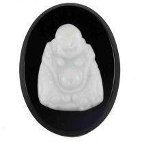 White_Buddha_Cameo_on_Black__V