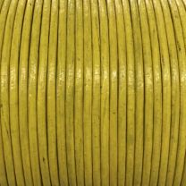 Yellow 2MM Leather Cord